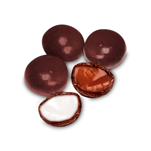 Chocolate-Panned Small Toffees & Fondant