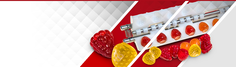 <b>Innovative 3D Mould System</b><p>New, exclusive technology for high-value, high-margin, fully 3D starchless jelly depositing