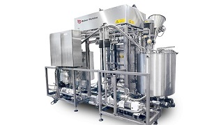 Cereal making machine coating system