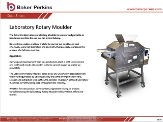 Data Sheet: Laboratory Scale Rotary Moulder