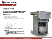 Data Sheet: Versatex Mixer