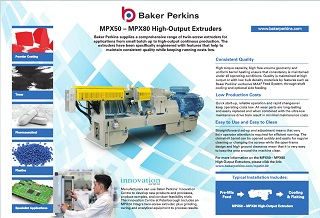 eSheet: MPX50 – MPX80 High-Output Extruders