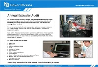 Technical Bulletin: Annual Extruder Audits