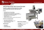 Technical Bulletin: MPF19 Benchtop Twin-Screw Extruder