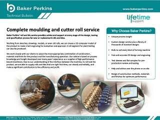 Technical Bulletin: Complete Moulding and Cutter Roll Service